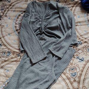 Fashion Nova Ruched Sweater Set Size XL